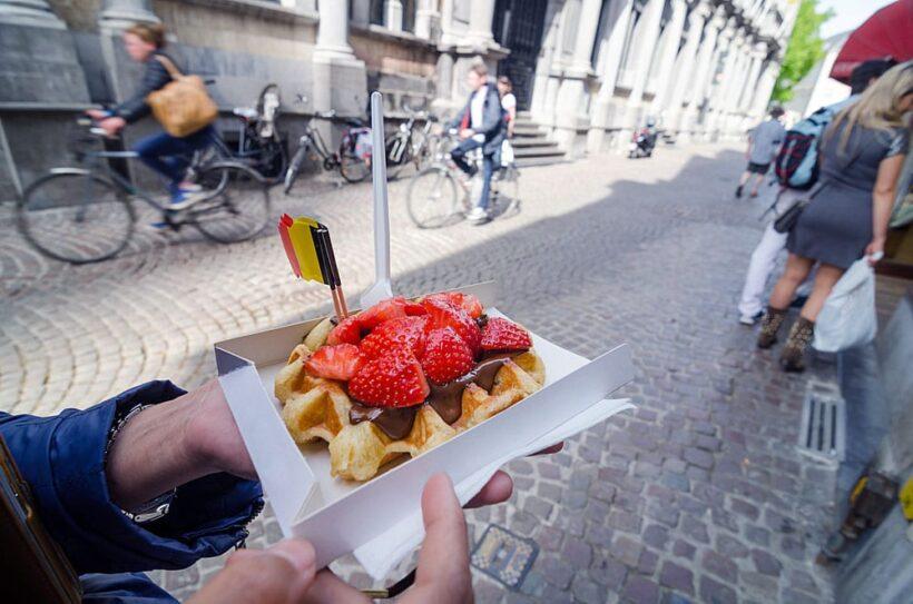 Belgische wafels in Brugge