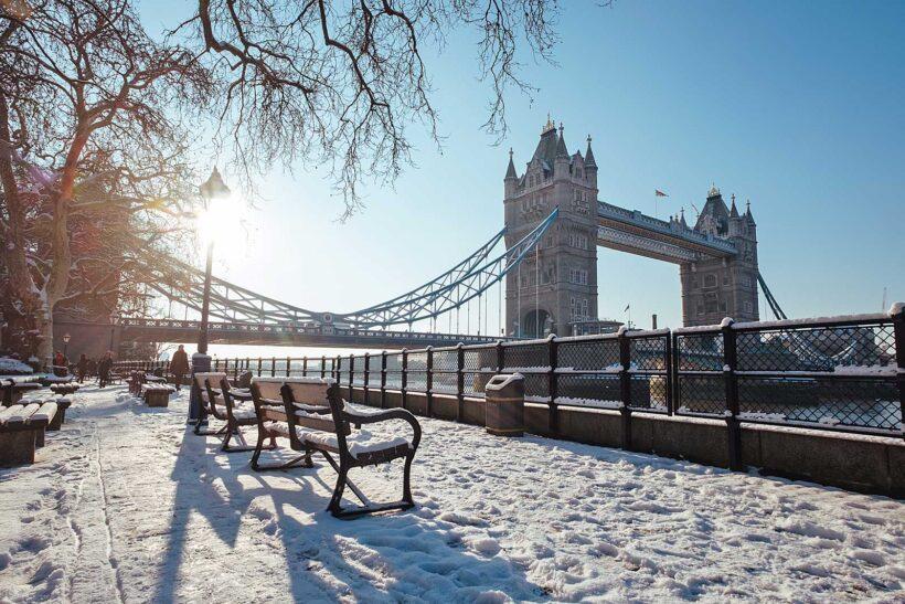 Stedentrips in de winter: Londen in de sneeuw