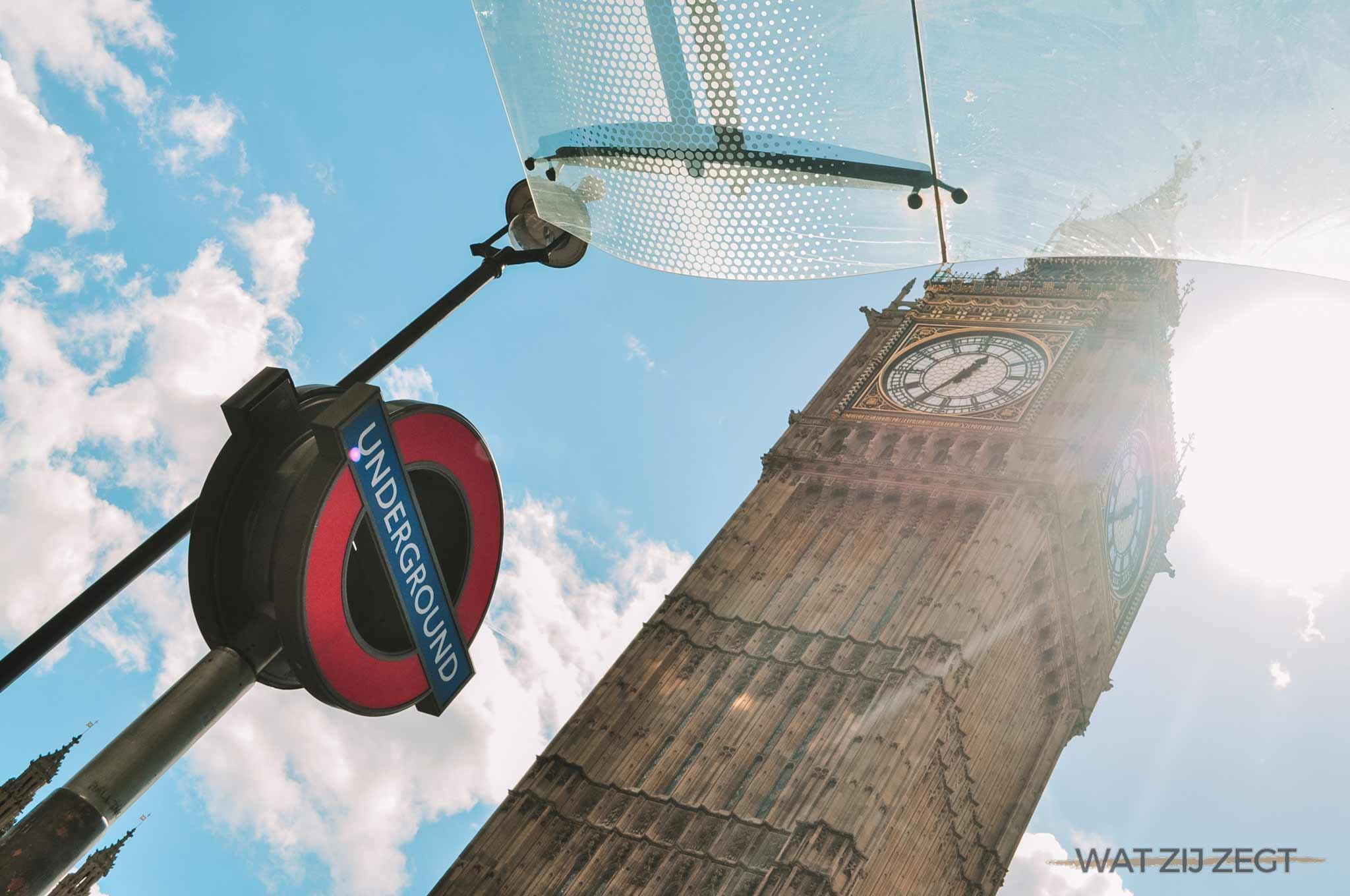 Big Ben, Underground, Londen: 3 dagen in londen