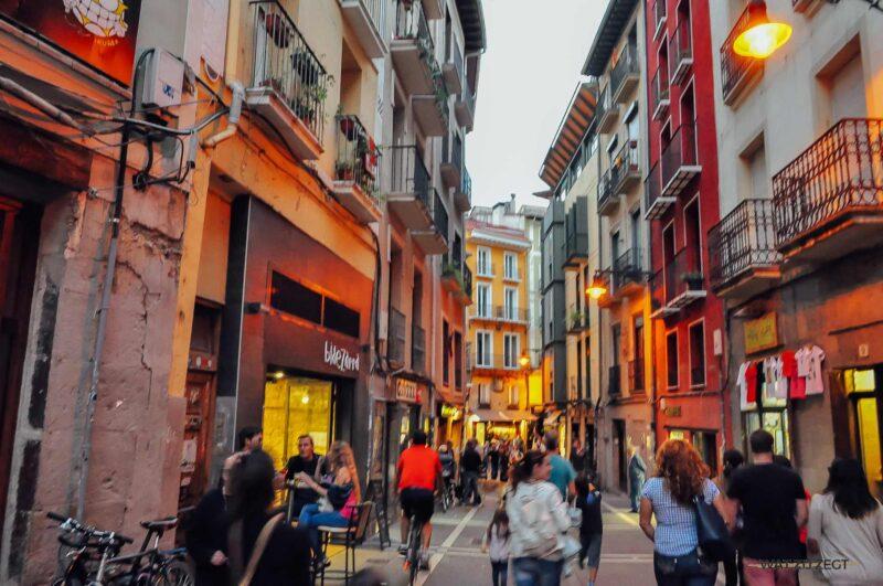 De straten van Pamplona