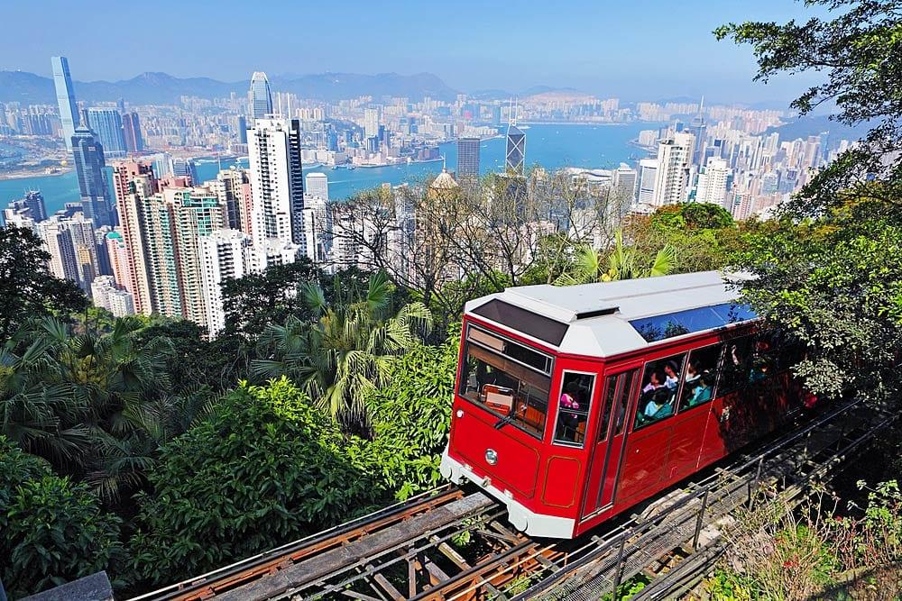 Een ritje met de trein in Hong Kong