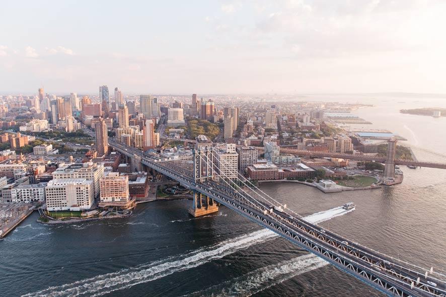 Manhattan gezien vanuit de lucht, New York City