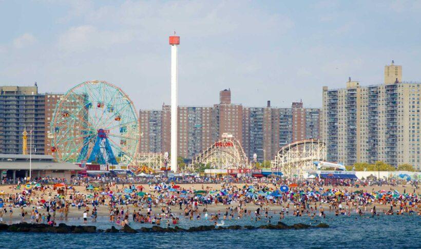 Doen op Coney Island in Broolyn, New York