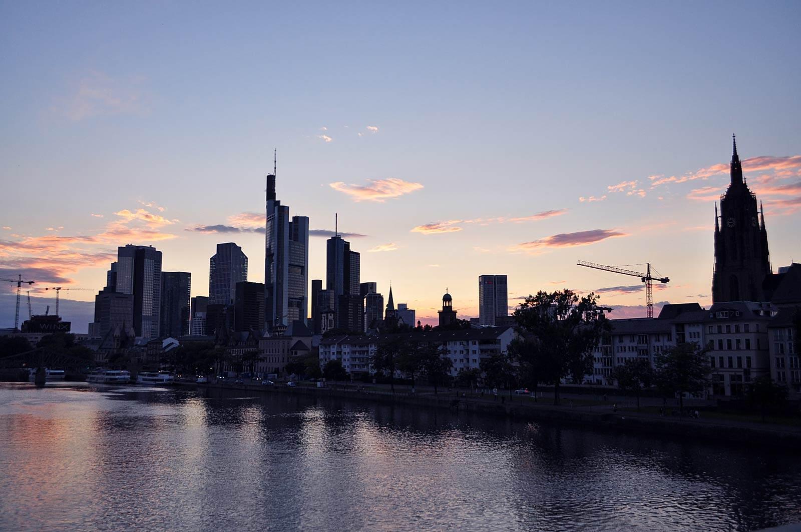 Frankfurt wordt ook wel Mainhattan genoemd