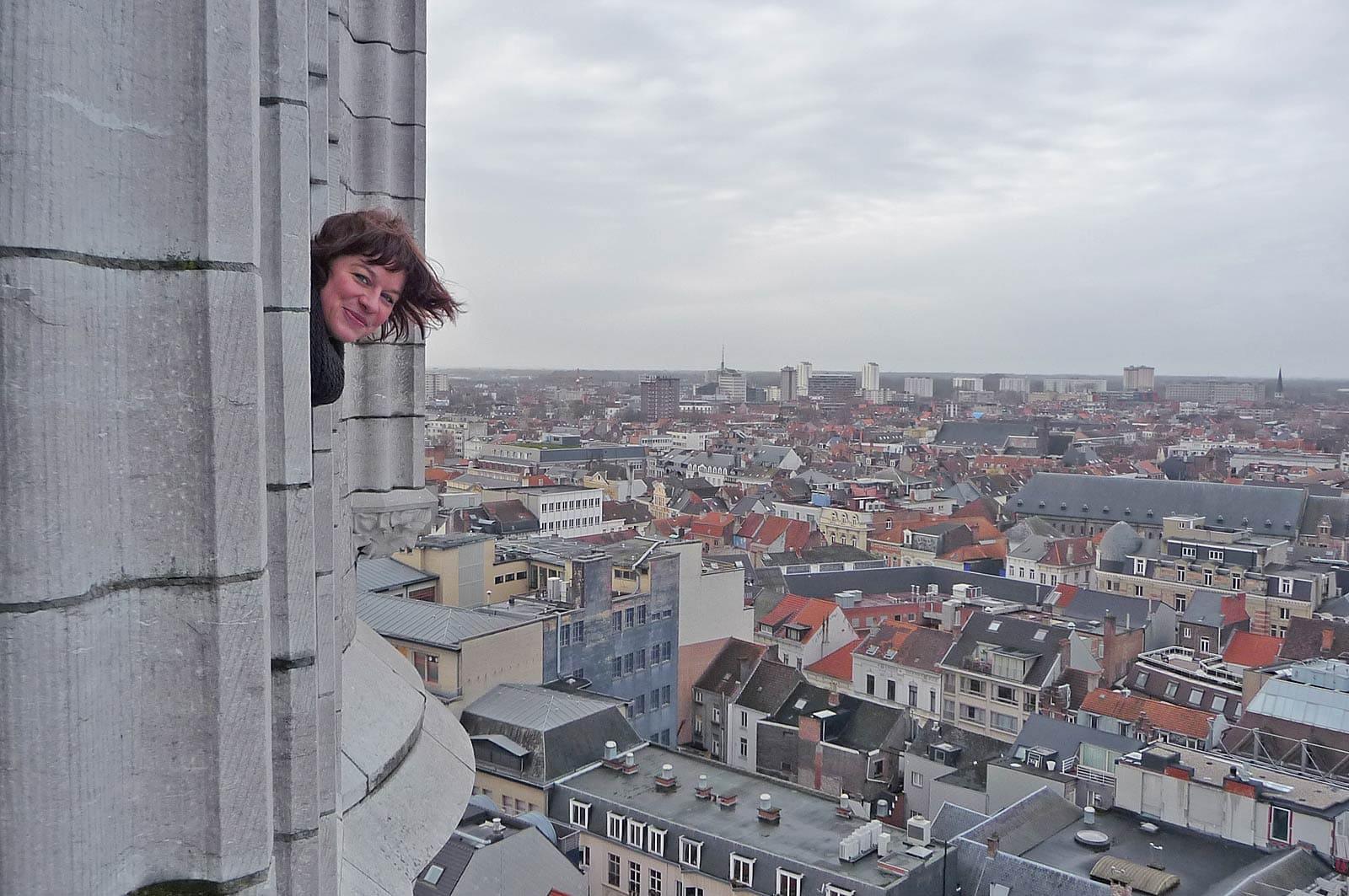 Vanaf de Belfort heb je een prachtig uitzicht over Gent