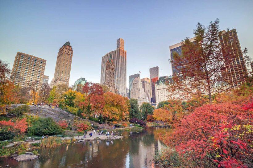 Vier de herfst in New York: Central Park in de herfst
