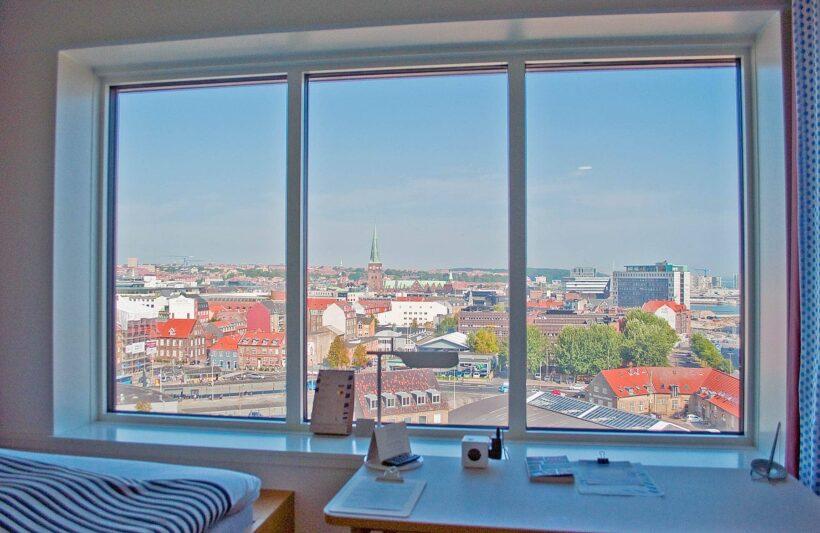 Geweldig uitzicht vanuit mijn kamer in het Comwell Hotel Aarhus