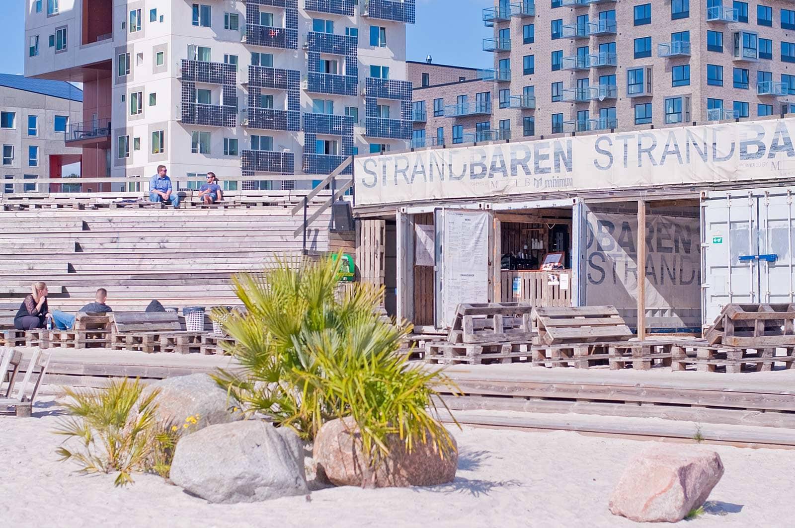 Strandbaren in Aarhus Ø