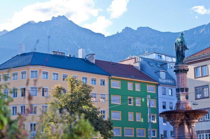 Overal omringd door bergen in Innsbruck