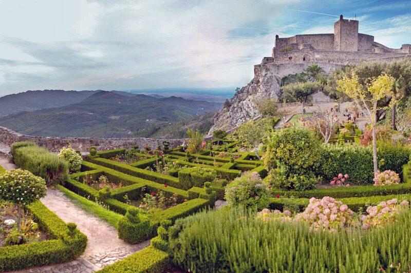 Uitzicht op het landschap rondom Marvao in Alentejo, Portugal