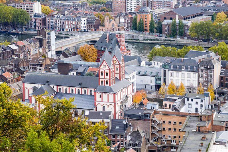 Het centrum van Luik in België