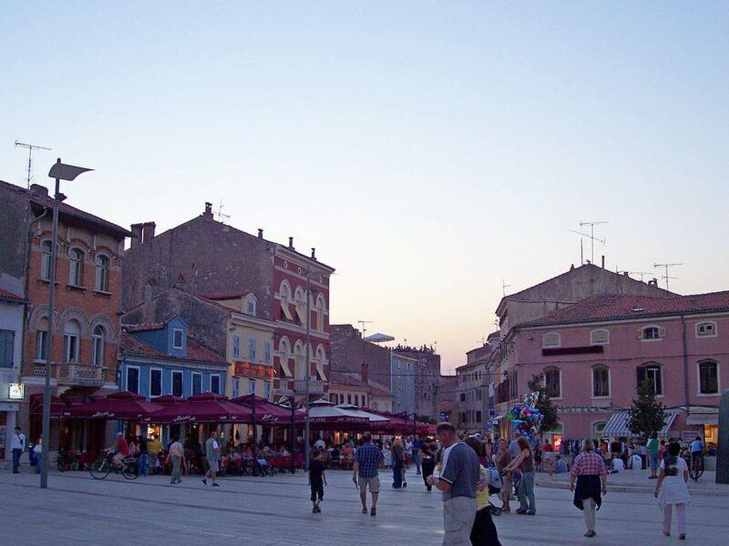 Het centrum van Porec in Kroatië