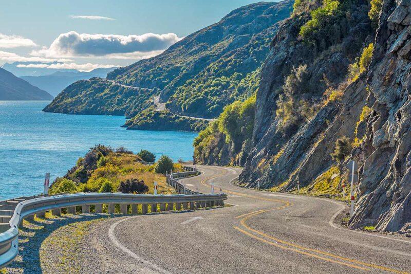 Road along Lake Wakatipu, Queenstown, New Zealand (Shutterstock)
