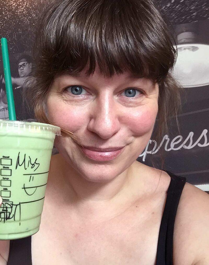 17 uur in Guangzhou: Starbucks selfie