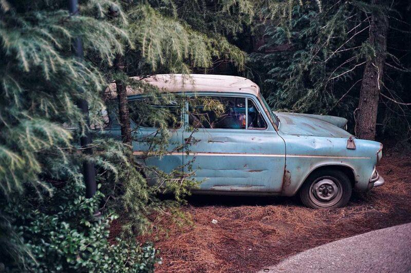 Ik wil ook wel een Harry Potter Road Trip maken in deze magische auto!