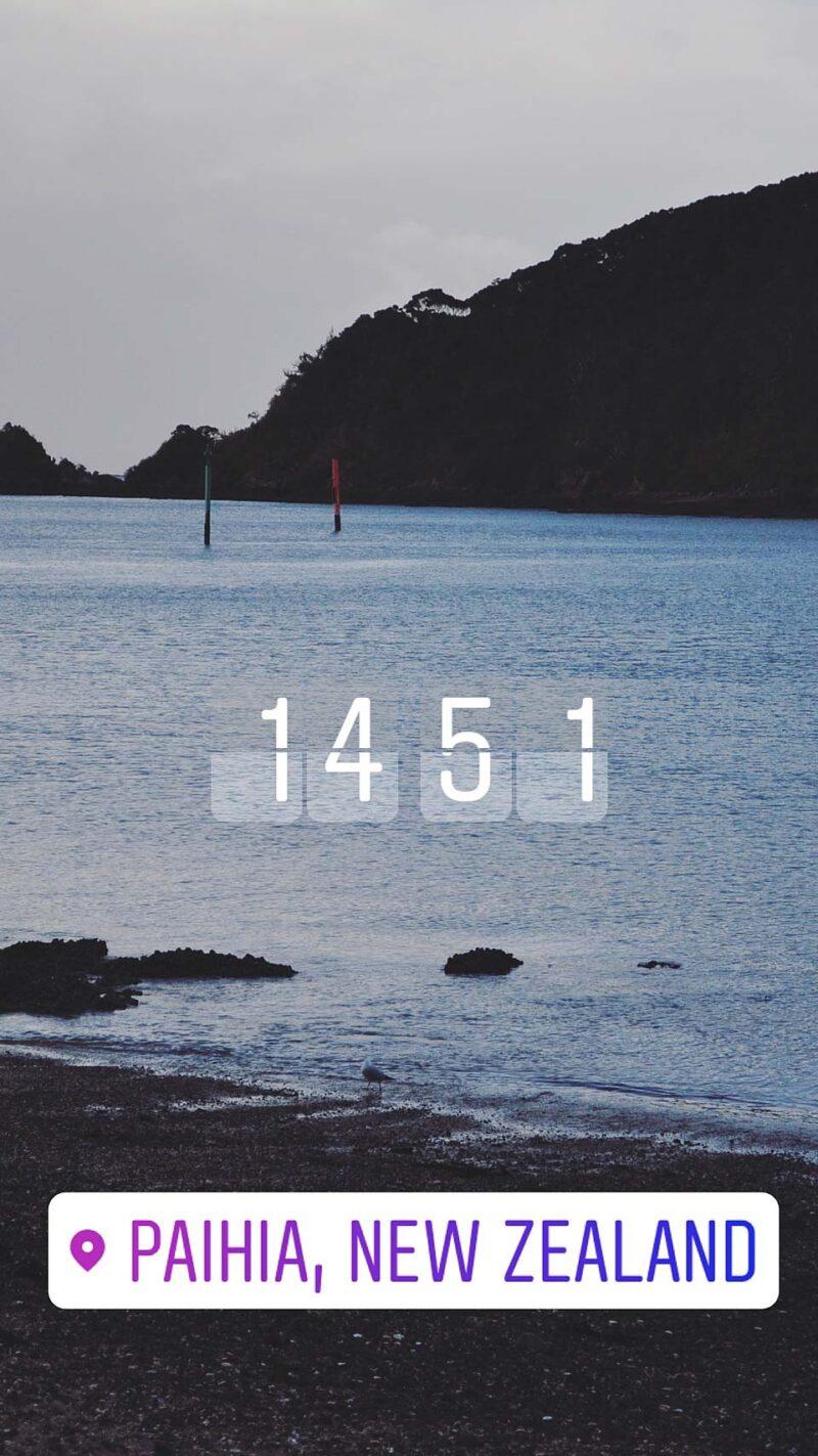 28 juli: Paihia, Nieuw-Zeeland