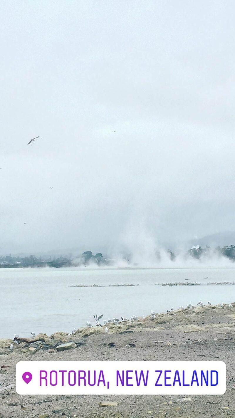 2 augustus: Rotorua in Nieuw-Zeeland