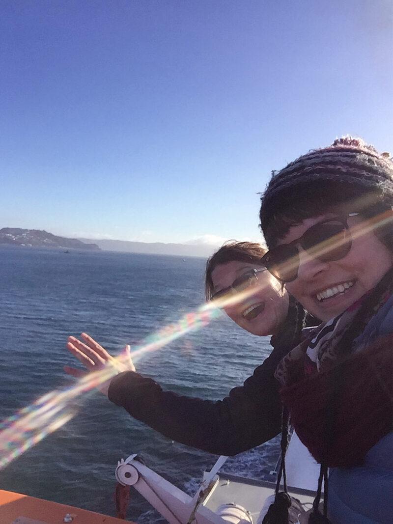 6 augustus: met de ferry naar het Zuidereiland