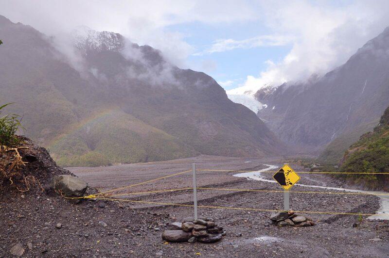 10 augustus 2017: Franz Josef gletsjer in Nieuw-Zeeland