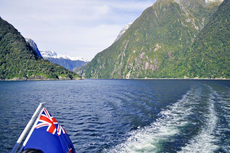 14 augustus 2017: Milford Sound in Nieuw-Zeeland