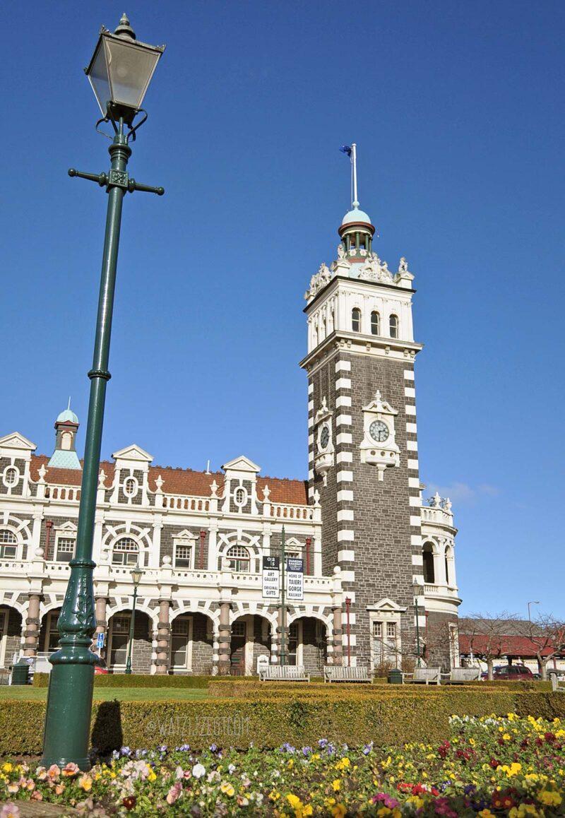15 augustus 2017: Dunedin's treinstation in Nieuw-Zeeland