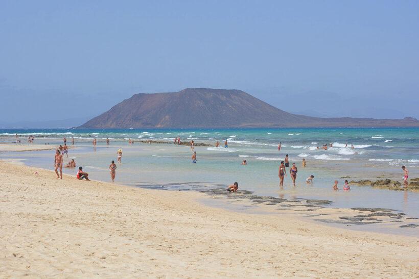 Lekker aan het strand in Corralejo, Fuerteventura