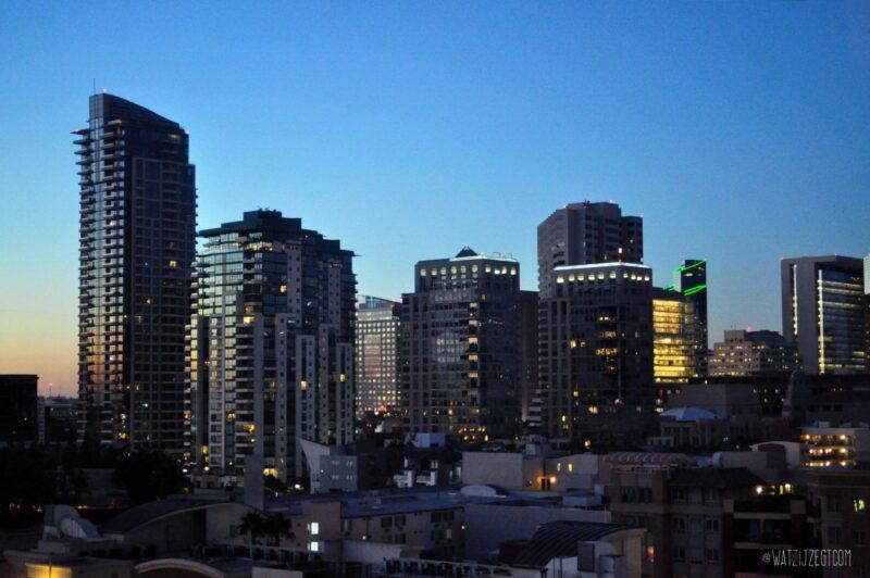 Downtown San Diego by night