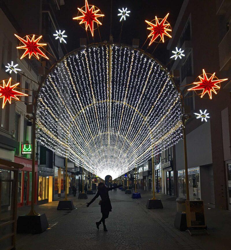 Oostende Winterstad: lichttunnel