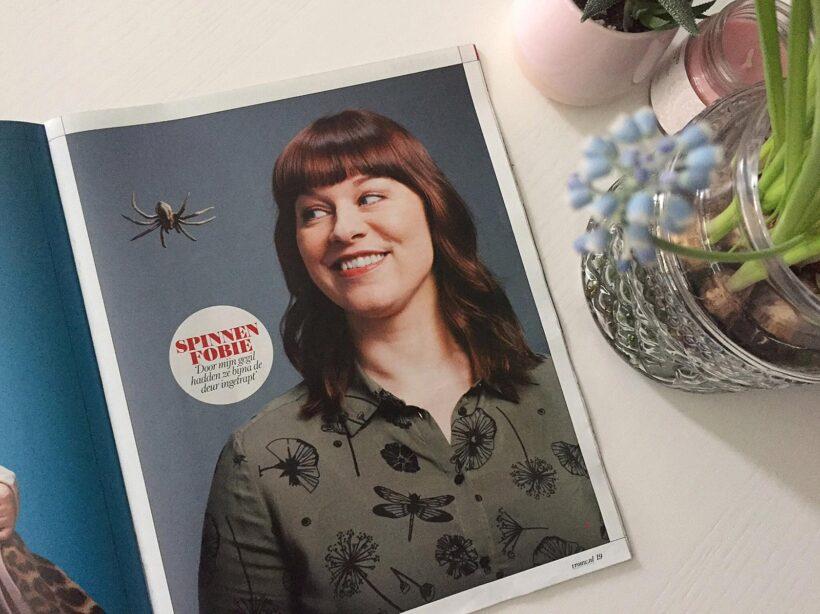 Wat zij zegt: Interview in VROUW over mijn spinnenfobie
