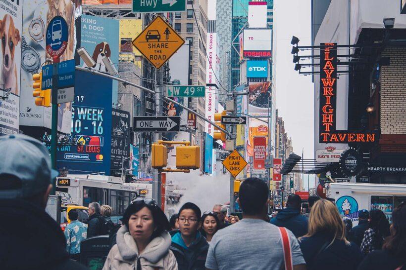 New York is druk en gehaast?