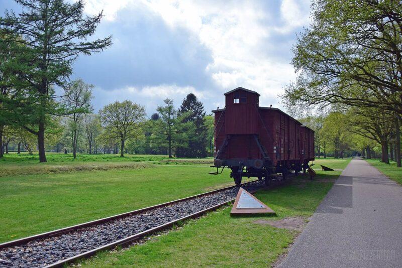 Treinstel in voormalig Kamp Westerbork