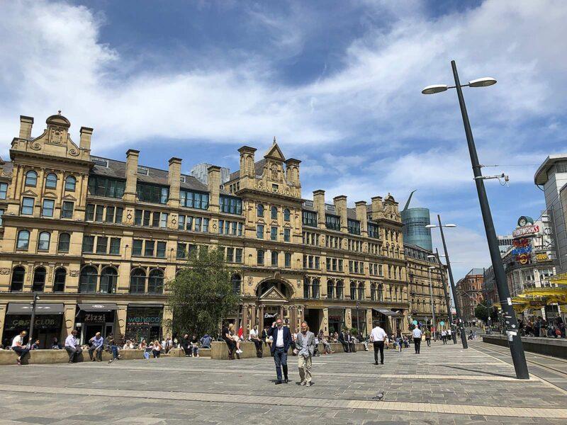 5 juni 2018: Exchange square Manchester