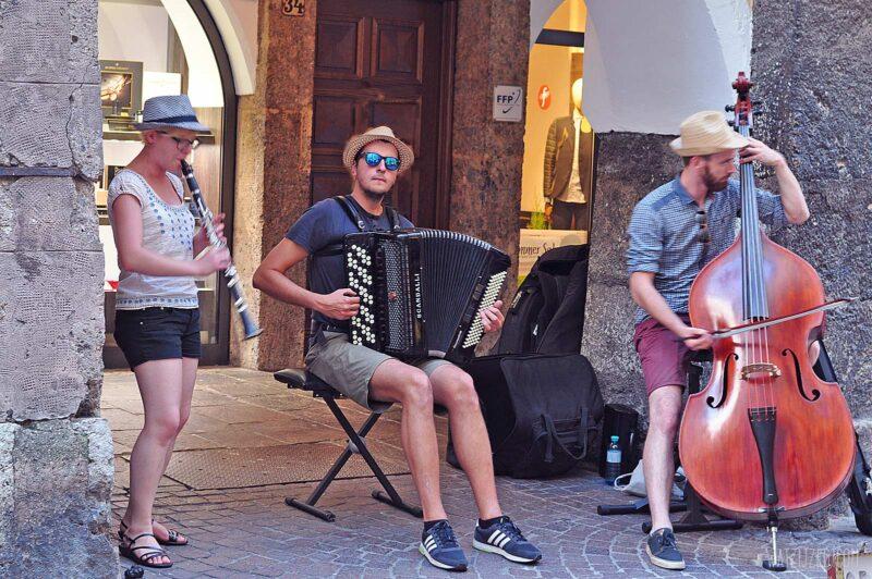 Straatmuzikanten in Innsbruck