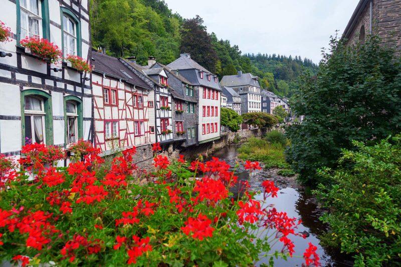 Monschau in de Duitse Eifel