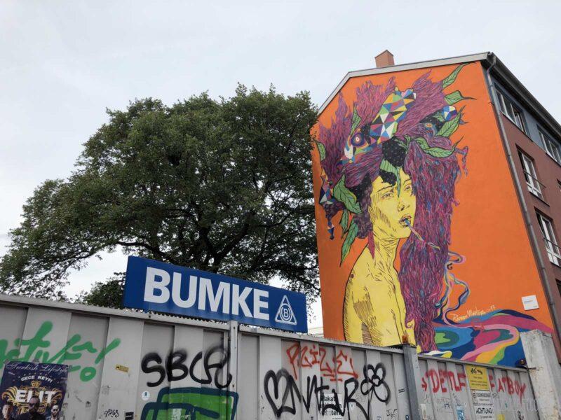Street art naast Bumke in Hannover