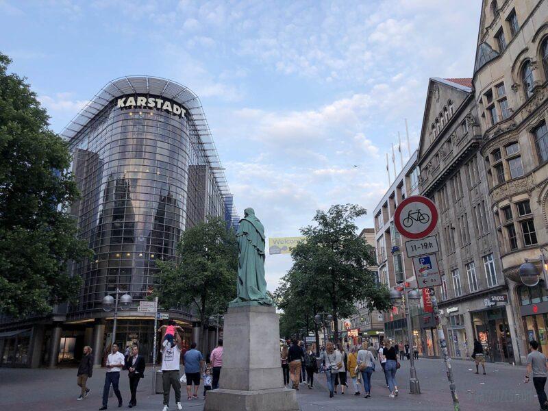Winkelen in de binnenstad van Hannover
