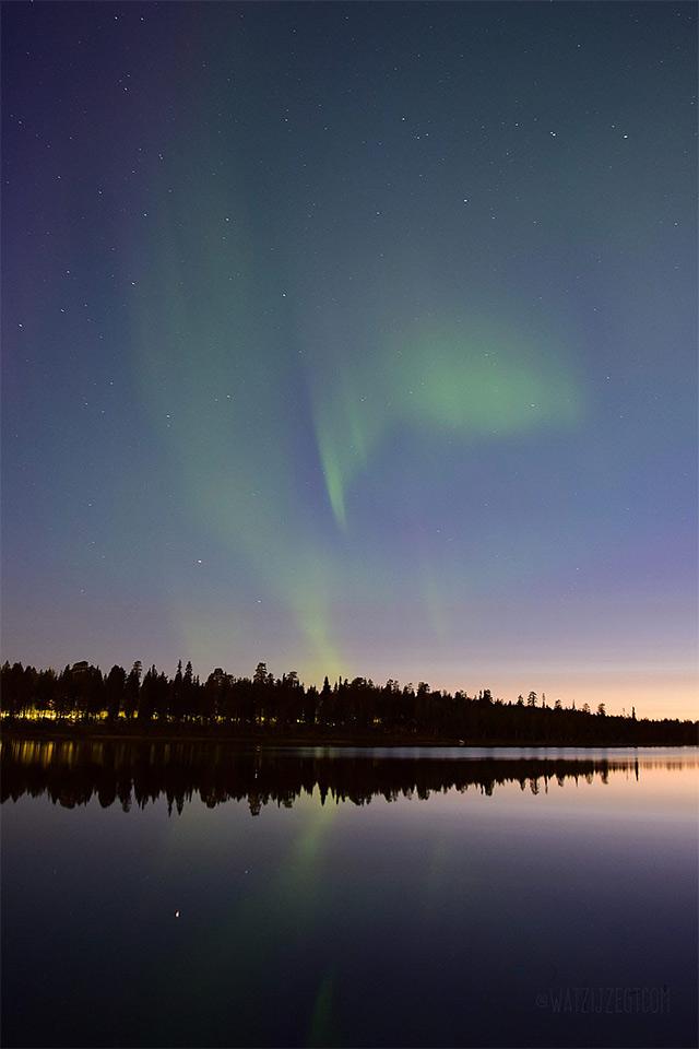 Noorderlicht spotten in Lapland