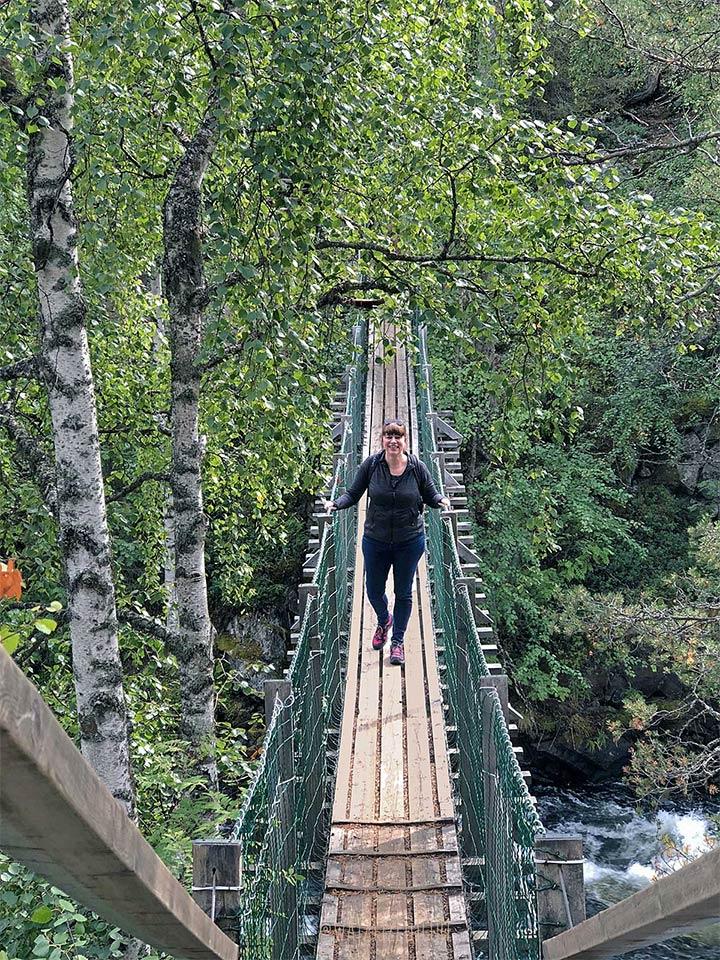 Hiken door Oulanka Nationaal Park in Finland