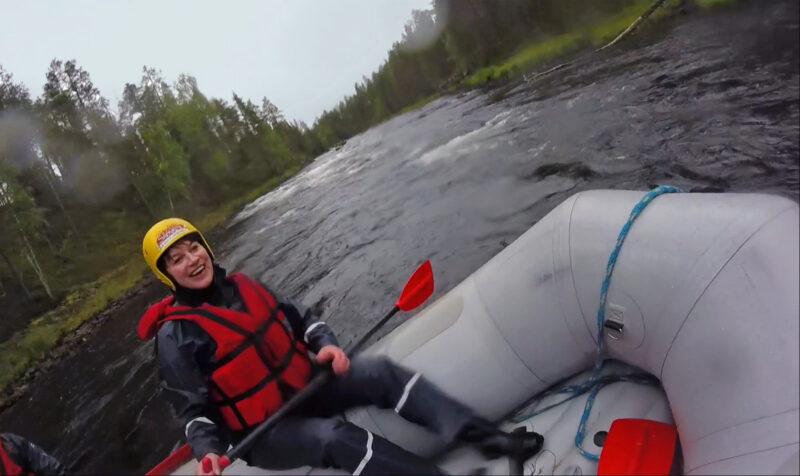 Raften met Ruka Safaris in Lapland, Finland