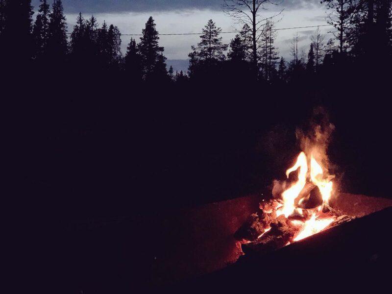 26 aug 2018: Kampvuur in Finland