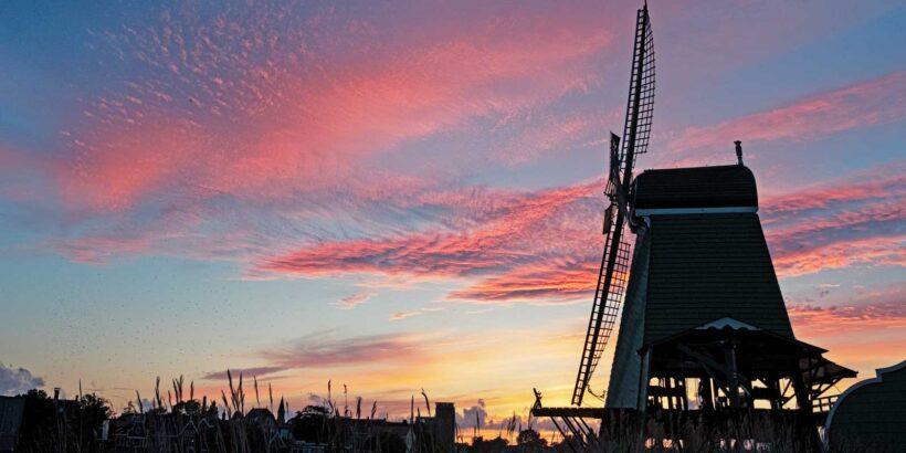 Hollandse molen in Nederland