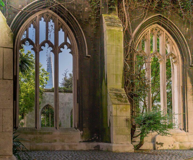 Verborgen schatten in Londen: St Dunstan's in the East Church Garden