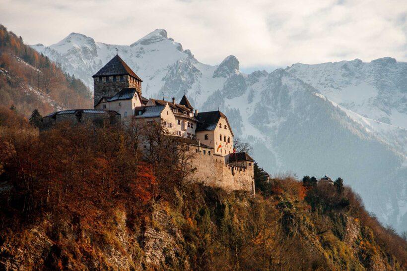 Best in Europe 2019: Kasteel Vaduz in Liechtenstein (via Unsplash)