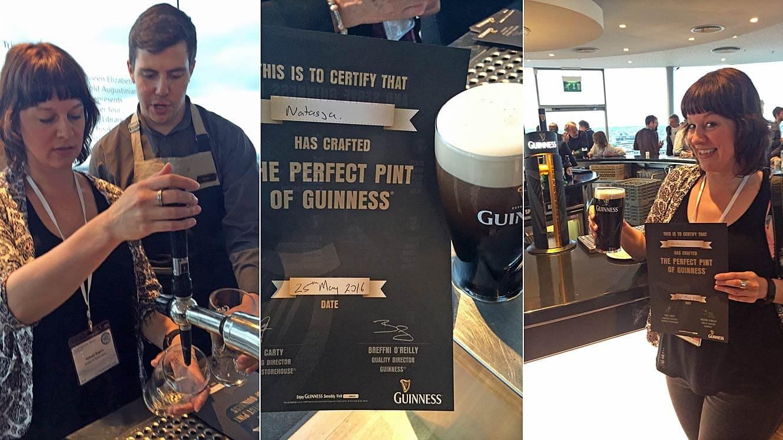 Guinnes Skybar in Dublin
