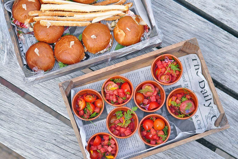 Heerlijk eten bij het Tuincafé van de Kruidhof